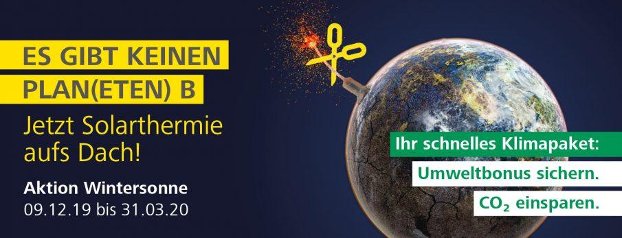 Aktion Wintersonne für Klimaschutz und Solarheizungen